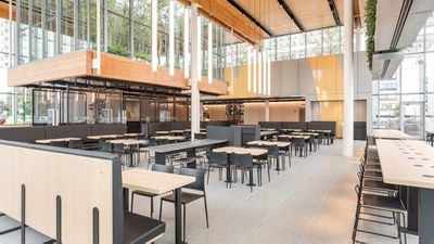 Redesigned McDonald's Chicago flagship store