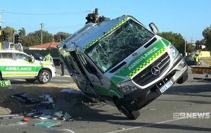 Perth ambulance crash survivor 'lucky to be alive'