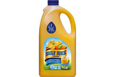 The Daily Juice Company orange juice: 16.6g sugar per 200ml serve