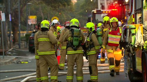 A man was taken to Royal North Shore Hospital suffering serious burns on the lower part of his body.