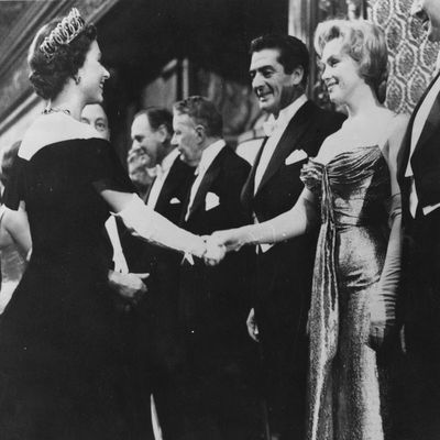 Queen Elizabeth II and Marilyn Monroe