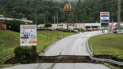 People were left stranded in Elkview. (AAP)