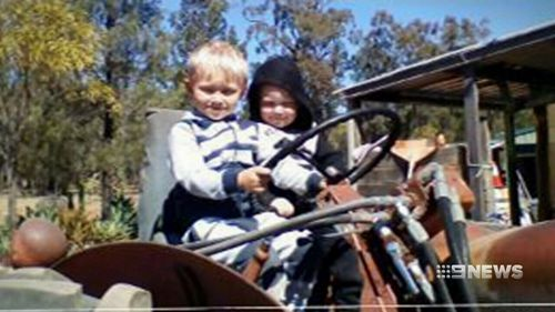 The siblings were pulled from the blaze by their father. (9NEWS)