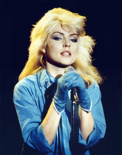 Debbie Harry, Blondie, singing on stage