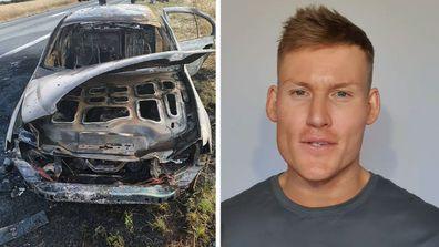 Seb's car set on fire