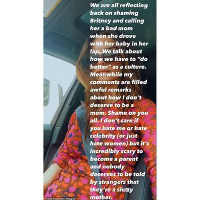 Emily Ratajkowski hit back at mom-shamers on her Instagram.