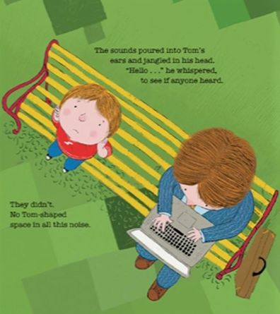 Inside page of The Boy on the Bench