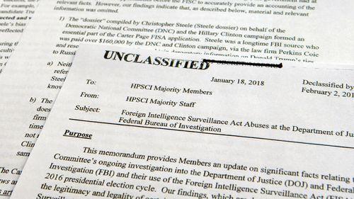 The declassified intelligence memo. (AAP)