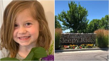 Aria Hill died on Monday after her father accidentally hit her in the head with a golf ball at Sleepy Ridge golf course, in Orem Utah.