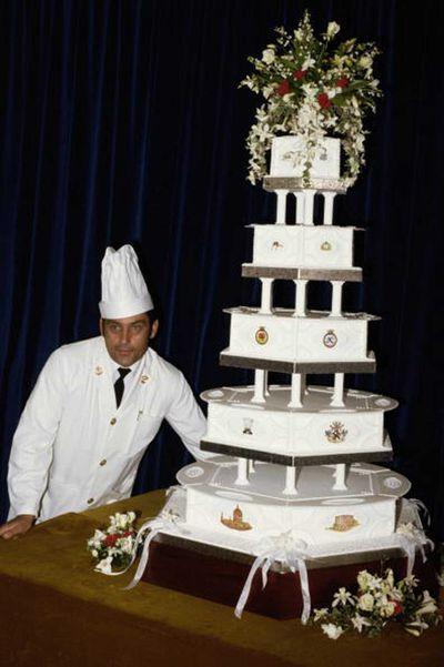 Prince Charles and Princess Diana's wedding cake