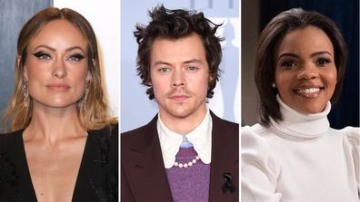actress olivia wilde defends harry styles after author candace owens slams singer for wearing dress on vogue cover 9celebrity actress olivia wilde defends harry