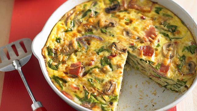 Prosciutto and spinach frittata for $8.80