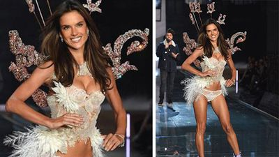 Brazillian model Alessandra Ambrosio walked the Victoria's Secret catwalk for the 10th year in a row. (Instagram)