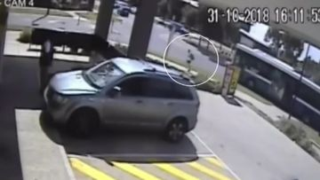 CCTV exclusively obtained by 9News captured the shocking accident.