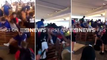 Schoolkids in 'disgusting' brawl in shopping centre food court