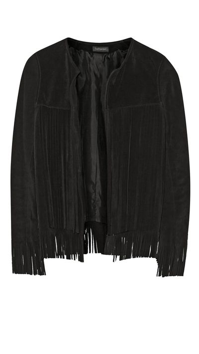 """<a href=""""http://www.net-a-porter.com/product/536545/Finds/-theperfext-april-fringed-suede-jacket"""">+Theperfext April Fringed Suede Jacket, $1,662, Finds, net-a-porter.com</a>"""