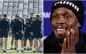 Usain Bolt trains with Aussie A-League team