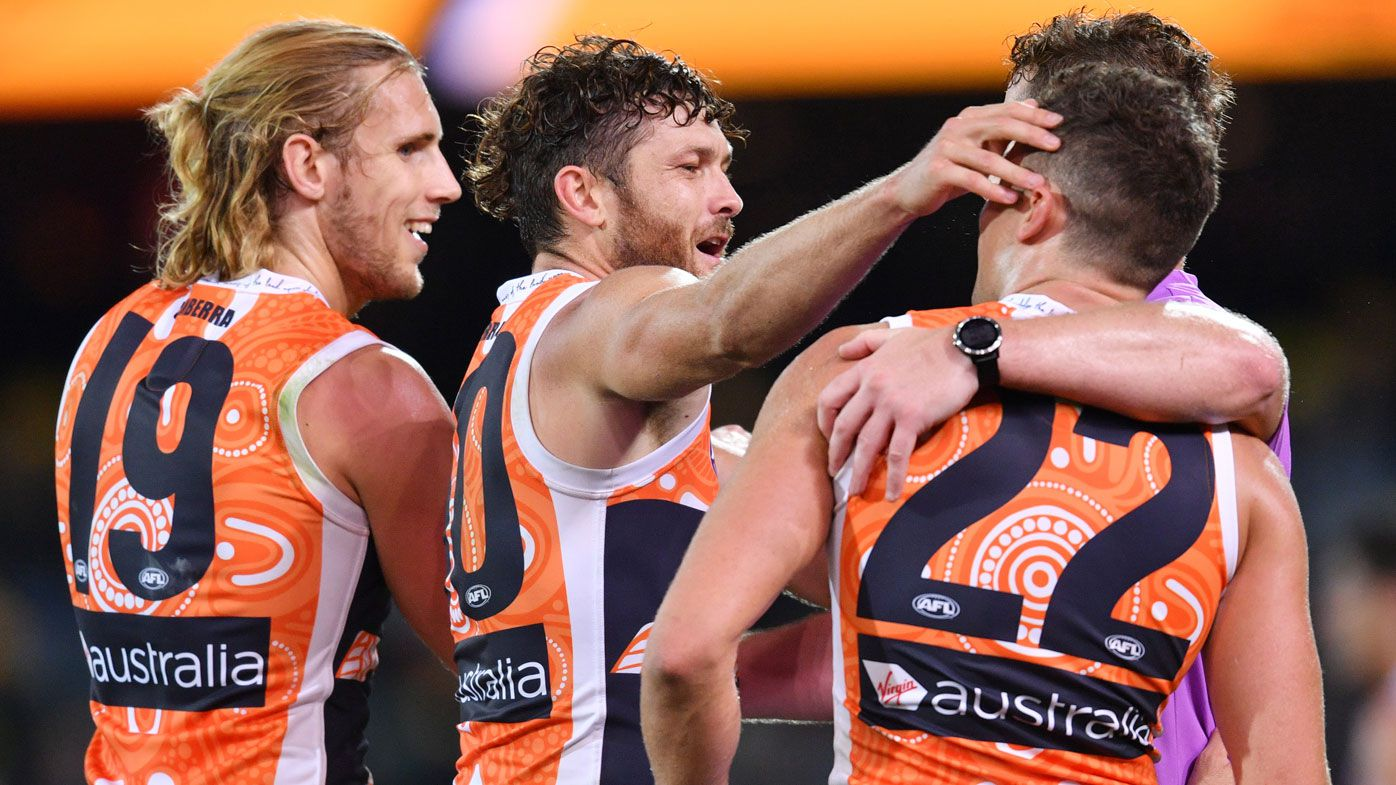 GWS Giants stun Adelaide Crows with drought-breaking AFL win