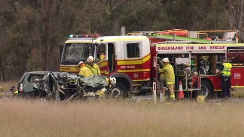 Emergency services responded to the crash. (9NEWS)