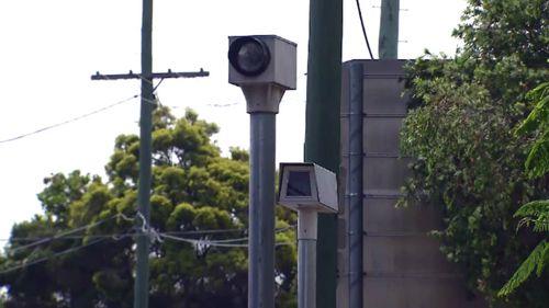 Black spots red light cameras