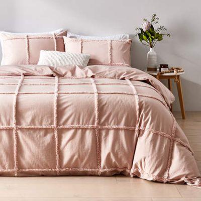 Honor Cotton Quilt Cover Set — Kmart