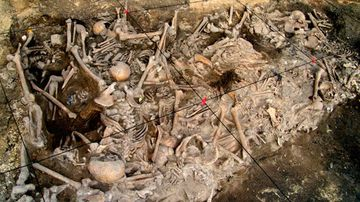 One of the nine mass graves discovered. Picture: Moscow Institute of Physics and Technology