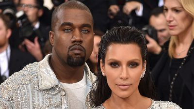 Rapper Kanye West with wife, model Kim Kardashian. (AFP)