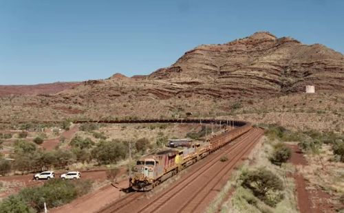 The train hauled 28,000 tonnes of iron ore. (Supplied)