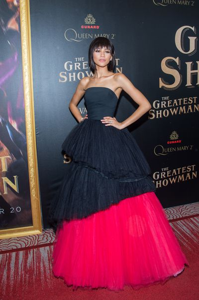Zendaya attends the 'The Greatest Showman' World Premiere aboard the Queen Mary 2 at the Brooklyn Cruise Terminal on December 8, 2017 in the Brooklyn borough of New York City.
