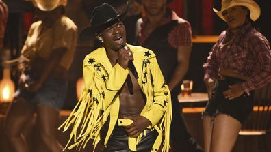 "Lil Nas X performing ""Old Town Road"" at the BET Awards in Los Angeles (Photo: June 23, 2019)"