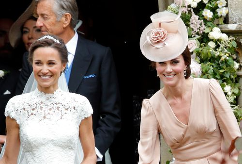 Pippa and the Duchess of Cambridge at her wedding last year. (AAP)