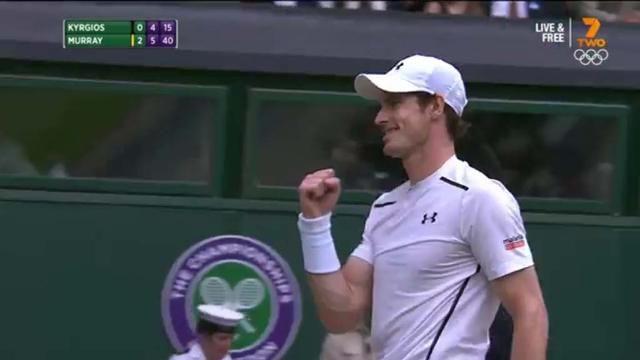 Murray pummels Kyrgios at Wimbledon