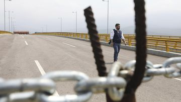 Venezuela bridge blockaded