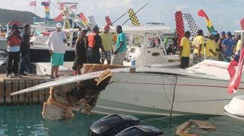 Branson watches 'sheer terror' boat crash