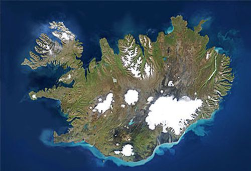 Satellite view of Iceland (Getty)