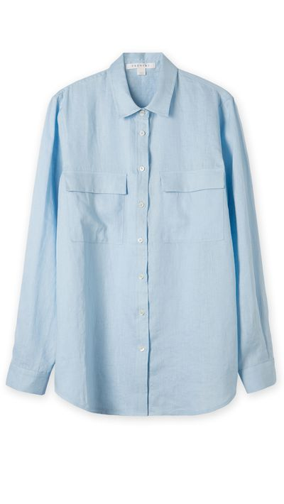 "<a href=""http://www.trenery.com.au"" target=""_blank"">Shirt, $129, Trenery</a>"