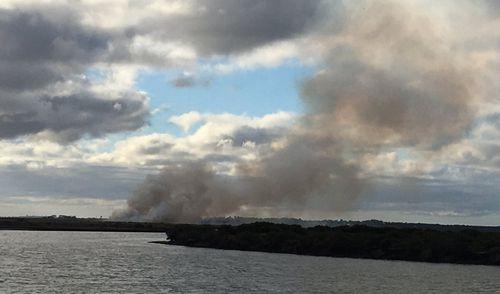 Smoke billowing from car fire near Barwon Heads airfield