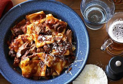 "<a href=""http://kitchen.nine.com.au/2016/05/05/13/10/pappardelle-with-mediterranean-lamb-stew"" target=""_top"">Pappardelle with Mediterranean lamb stew</a><br /> <br /> <a href=""http://kitchen.nine.com.au/2016/06/06/21/45/slow-cooker-easter-lamb-recipes/"" target=""_top"">More slow-cooked Easter lamb</a>"