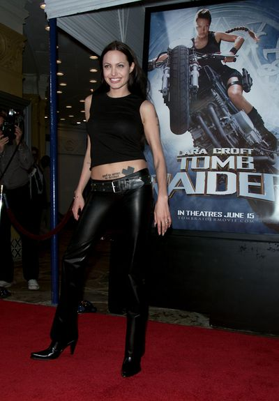 Angelina Jolie at the premiere of <em>Lara Croft: Tomb Raider</em>&nbsp;in Los Angeles in June, 2001
