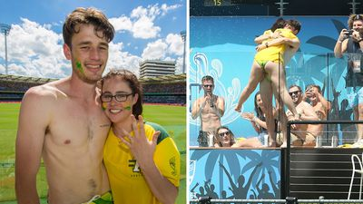 Pool party as cricket fan proposes to girlfriend