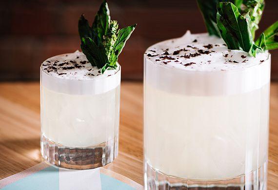 Woody P's Black Smash gin cocktail