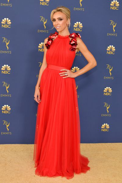 TV host Giuliana Rancic at the 70th Emmy Awards