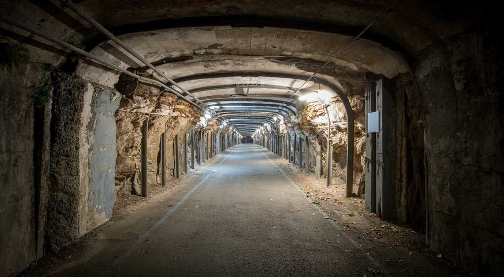 Cockatoo Island tunnel on haunted history ghost tour