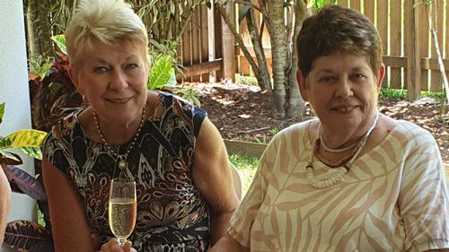 Janene Steward and her roommate Liz have been cooped up in the Swissotel for four days.