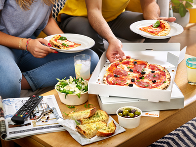 Menulog pizza takeaway