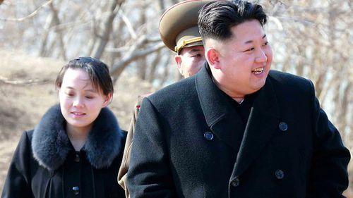 Kim's sister Kim Yo Jong is another influentual North Korean woman. (AAP)