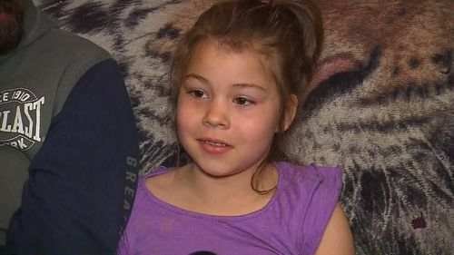 Jessica, 6, eventually asked some construction workers for help, saying she was scared of the dark.
