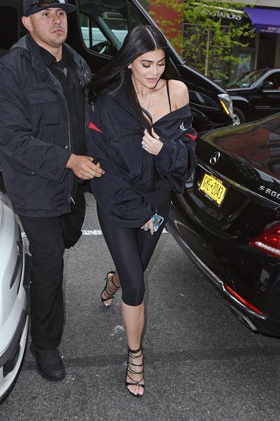 Kylie Jenner, walking, restaurant, New York