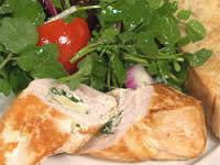 Parsley & Bocconcini Chicken with Watercress Salad