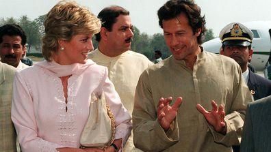 Princess Diana and Imran Khan in April 1996
